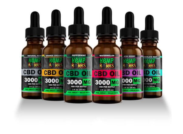 six bottles of hempbombs cbd oill