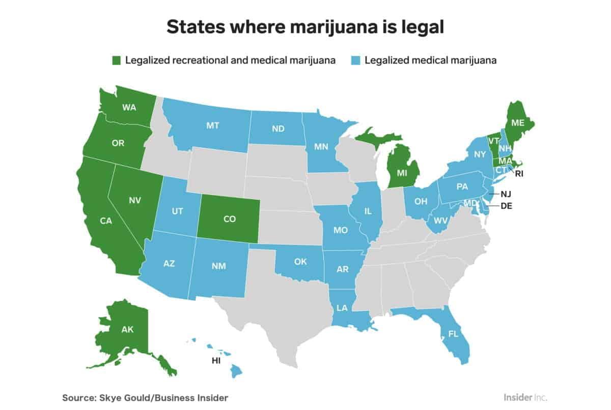 States where cannabis is legal