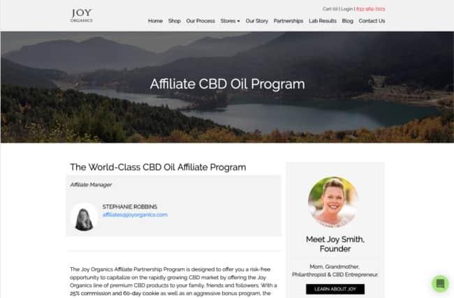 Joy organics cbd affiliate program