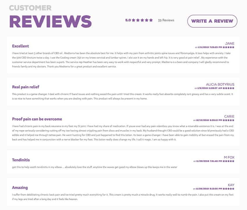 Medterra CBD Cream Reviews