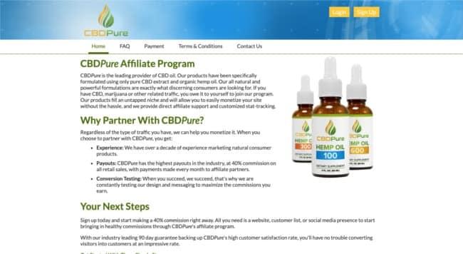 Pure cbd affiliate program