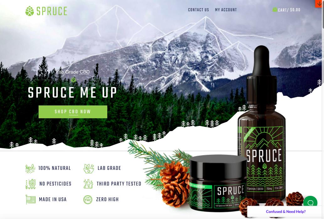 Spruce cbd website